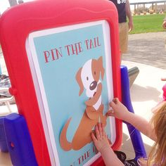 INSTANT DOWNLOAD - Pin the Tail on the Puppy, Puppy Pawty Games, Dog Birthday Games