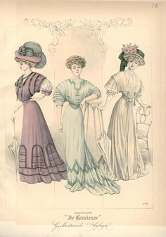 Fashion plate, 1907 the Netherlands, De Gracieuse