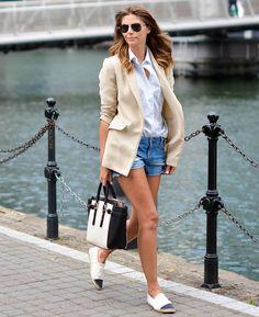 c9aba18536 9 Maneiras de Usar Short Jeans + Blazer