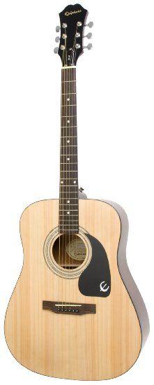 Amazon.com : Epiphone DR-100 Acoustic Guitar, Natural : Steel String Acoustic Guitars : Musical Instruments