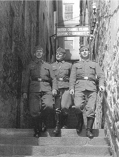 German soldiers on Guernsey.