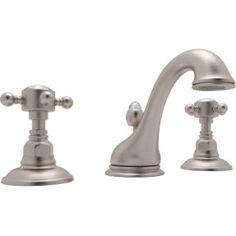 Rohl A1408XCSTN-2 Viaggio Satin Nickel  Two Handle Widespread Bathroom Faucets |eFaucets.com