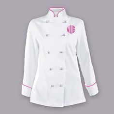 This chef coat has a comfortable fit and is tailored for a woman's body style. It features Red piping on collar and cuffs. Feel the comfort and functionality wearing this chef jacket. Customize it wit