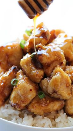Asian Honey Chicken, it was good the sauce was a bit too strong for me but everyone still loved it.
