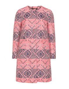 navabi Jacquard cotton-blend coat