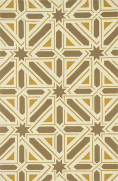 Palm Springs Taupe/Gold Indoor/Outdoor Area Rug