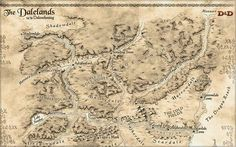 A Map of Dalelands from the D&D Encounters that is underway: Search for the Diamond Staff. Dnd World Map, Fantasy World Map, Dungeons And Dragons Books, Imaginary Maps, Forgotten Realms, Medieval Fantasy, City Maps, Map Art, Wallpaper