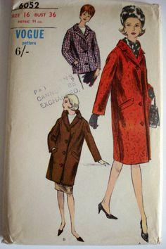 1960s Dress Pattern Vogue 6052 Bust 36 UNCUT FF by MercuryHandmade, £20.00