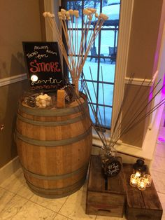 S'mores bar and sparkler retreat