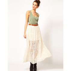 River Island Chelsea Girl Lace Maxi Skirt ($31) ❤ liked on Polyvore