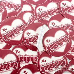 BLEEDING HEARTLAND ROLLERGIRLS CIRCLE CUSTOM STICKERS