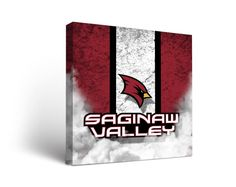 Saginaw Valley State Cardinals Vintage Canvas Print Square