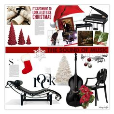 """""""The Sound of Christmas Music! Happy Holidays Everyone!"""" by mcheffer ❤ liked on Polyvore featuring interior, interiors, interior design, home, home decor, interior decorating, Branca, Sixtrees, Paul Frank and The Fur Salon"""