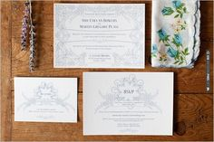 vintage inspired wedding invites | VIA #WEDDINGPINS.NET