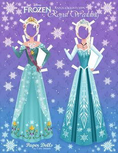 anna and kristoff's royal wedding, frozen addition | paper dolls by cory