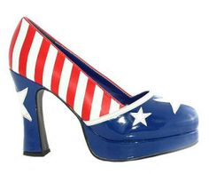 red white and blue heels