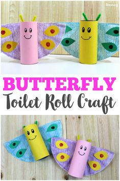 Easy Toilet Roll Butterfly Craft Make this easy spring toilet roll butterfly craft with your kids! So fun and simple for little ones! Make this easy spring toilet roll butterfly craft with your kids! So fun and simple for little ones! Crab Crafts, Bug Crafts, Crafts To Do, Preschool Crafts, Daycare Crafts, Preschool Learning, Spring Crafts For Kids, Easy Crafts For Kids, Toddler Crafts