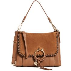 Joan Small Crossbody Bag in Skylight Grained Cowhide Leather and Suede See By Chlo cTI6k8Ta