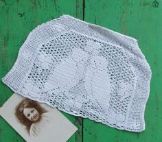 Antique Filet Crochet Tea Cosy Cozy Cover White by RummageRomy, $19.00