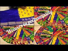 Pochampally ikkat pattu lehengas Rooplaxmi Hyderabad Shop Nos. Tussar Silk Saree, Pure Products, Make It Yourself, Youtube, Youtubers, Youtube Movies