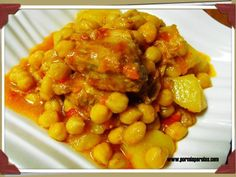 Pork Recipes, Mexican Food Recipes, Cooking Recipes, Ethnic Recipes, Spanish Dishes, Colombian Food, Chickpea Recipes, Tasty, Yummy Food