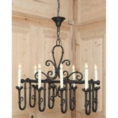 Antique Lighting | Antique Chandeliers | Vintage Country French Wrought Iron Chandelier | www.inessa.com