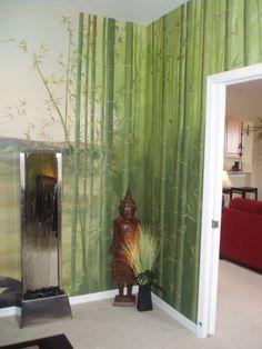 beautiful zen bamboo room, very serene