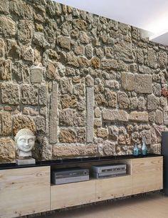 55 fantastiche immagini su carta da parati effetto pietra for Carta da parati effetto muro