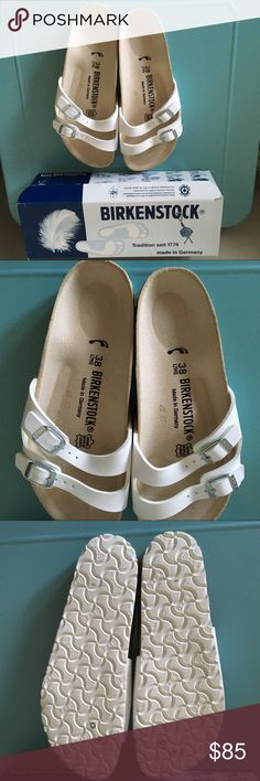 Birkenstock Ibiza Sandal in White - Sz 8 Super cute Birkenstock Ibiza Sandal in White!  Brand New in box! Size 8! Birkenstock Shoes Sandals