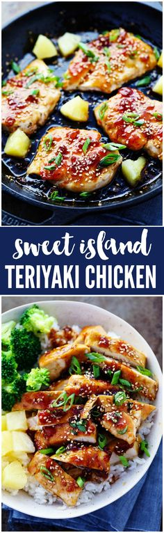 A sweet teriyaki sauce infused with pineapple and ginger bringing such an amazing marinade for this chicken! A quick 30 minute meal that… Turkey Recipes, Chicken Recipes, Vegetarian Recipes, Dinner Recipes, Cooking Recipes, Healthy Recipes, Dinner Ideas, Chicken Meals, Chicken Meatballs