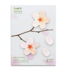 This is so much better than the yellow sitck-it note!  Blossom Sticky Note L White 4Pk, $27, now featured on Fab.