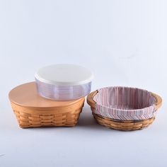 Round Longaberger Baskets