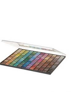 elf makeup- great inexpensive palette, use the right brushes and you'll get great coverage