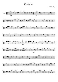 Centuries by Fall Out Boy | viola sheet music