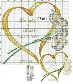 Cross-stitch Ribbon Heart with Lilies, part 3...   g U i j v