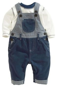 Buy Navy Dungarees And Bodysuit Set from the Next UK online shop Baby Outfits, Outfits Niños, Toddler Outfits, Kids Outfits, Little Boy Fashion, Baby Boy Fashion, Toddler Fashion, Kids Fashion, Baby Converse