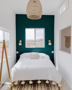 CONTEMPORARY BEDROOM DESIGN IDEAS - Find your favored bedroom images here. Browse through images of inspiring bedroom design ideas to create your excellent house. Bedroom Amazing Bedroom Design Ideas [Simple, Modern, Minimalist, Etc] Bedroom Colors, Home Decor Bedroom, Teal Bedrooms, Small Bedroom Interior, Teal Bedroom Walls, Kids Bedroom, Dark Teal Bedroom, Emerald Bedroom, Jewel Tone Bedroom