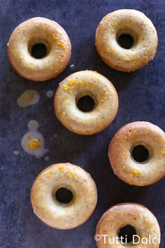 Meyer Lemon & Poppy Seed Doughnuts | Tutti Dolci