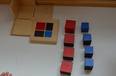 Binomial Cube - Montessori math tool that can use starting at age two. Need to look for one of these. Montessori Classroom, Montessori Activities, Math Classroom, Toddler Activities, Preschool Ideas, Math Lab, Math Tools, Montessori Materials, Homemade Toys