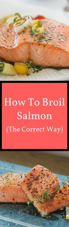 How to Broil Salmon Watch our short how to video and discover the correct way to broil salmon! Salmon Recipes, Fish Recipes, Seafood Recipes, Cooking Recipes, Healthy Recipes, Healthy Meals, Yummy Recipes, Healthy Food, Bon Appetit