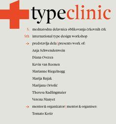 TypeClinic 5th international type design workshop, 2012 by TypeClinic , via Behance