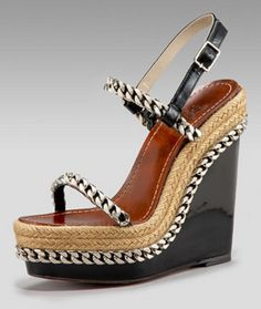 Christian Louboutin Wedges Spring 2010 with Chain Details #Shoes