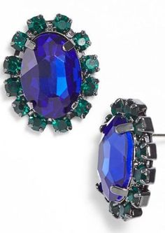 Oval emerald studs - want!