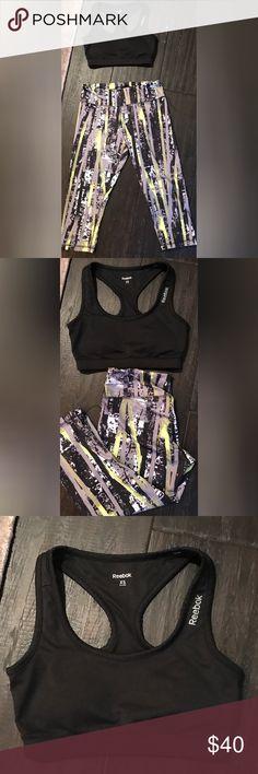 Reebok Workout Gear. Reebok Work out gear. Sports bra black size XS and bottoms size M. Reebok Other