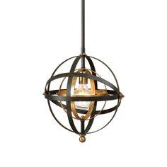 Rondure 1-Light Sphere Pendant Lighting Fixture by Uttermost