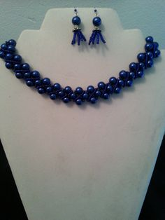 Blue Waves Necklace and Earring Set by BJDevine on Etsy