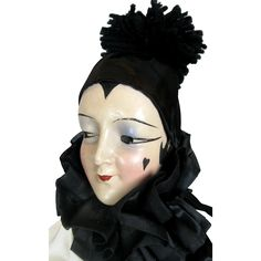 Vintage 1920s Pierrot Type Anita Bed Doll Boudoir Doll, Unusual Art from daisyandstella on Ruby Lane