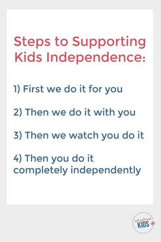 Help kids master important life skills by following these steps - Read more about the importance of raising independent kids in How to Raise an Adult by Julie Lythcott-Haims [affiliate]