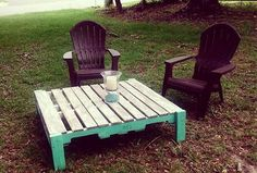 Custom Pallet Table Seafoam Bottom and Creamy Driftwood for the top.