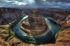 Horseshoe Bend is the name for a horseshoe-shaped meander of the Colorado River located near the town of Page, Arizona, in the United States.